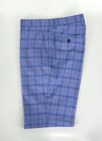 Tamara Blue Check Slim Fit Trousers