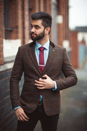 Tommy Brown Tweed Check Blazer