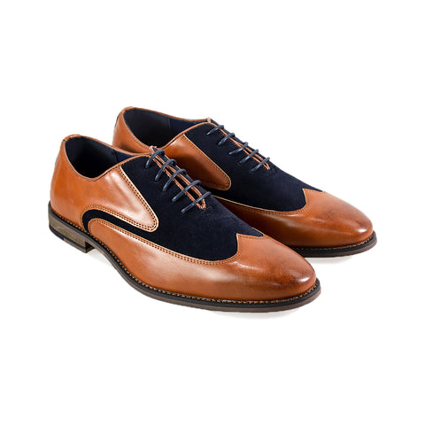 Tate Tan Navy Formal Shoes