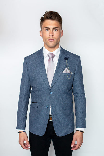 Tomas Blue Slim Fit Blazer