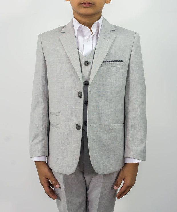 Veneto Light Grey Boys Suit