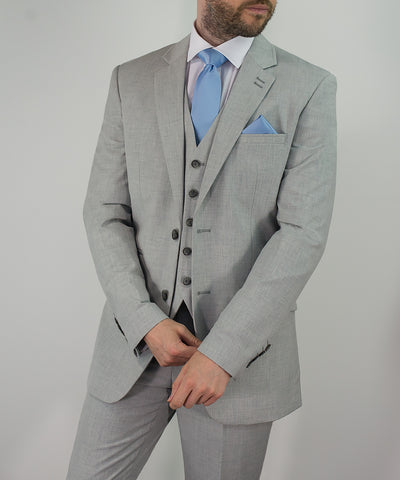 House Of Cavani Veneto Light Grey Summer Three Piece Suit Formal Wedding