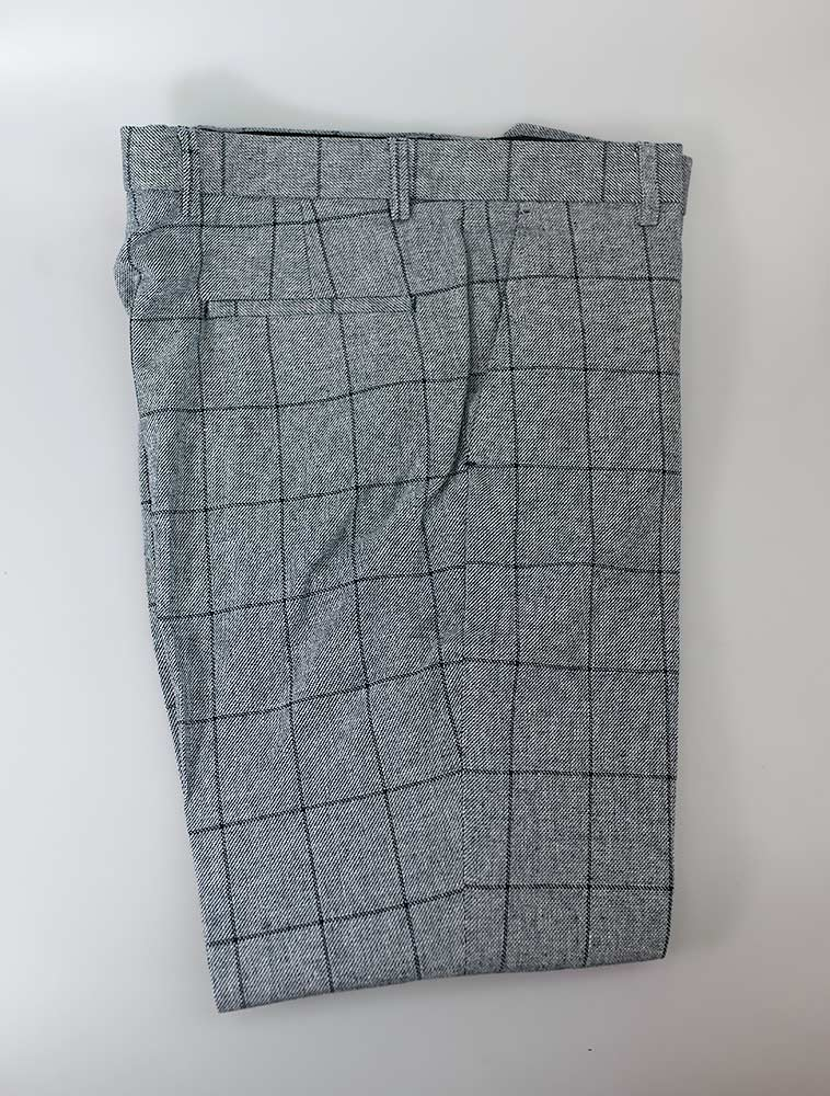 House Of Cavani Venice Blue Check Wedding Trousers