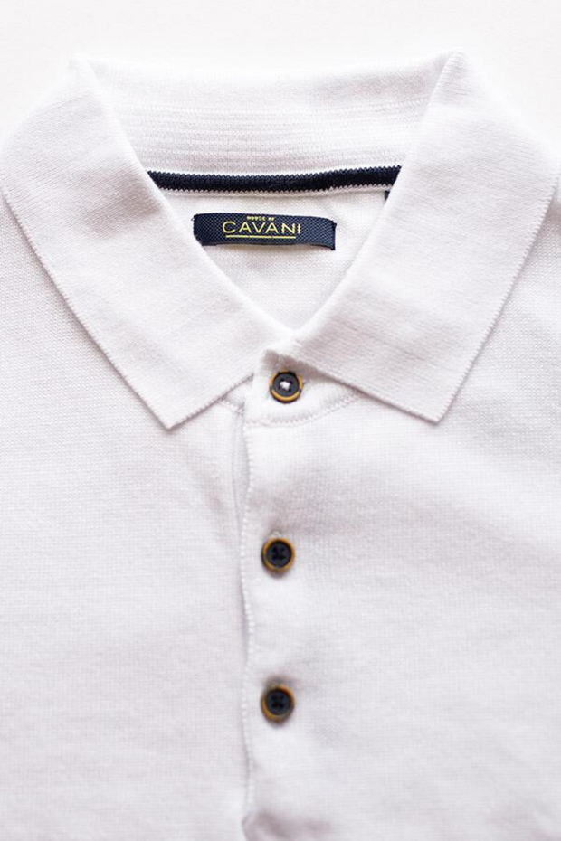 Cavani White Polo Shirt