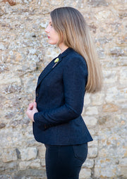 Martez Navy Women's Tweed Blazer
