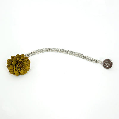 Yellow Lapel flower Chain Pin