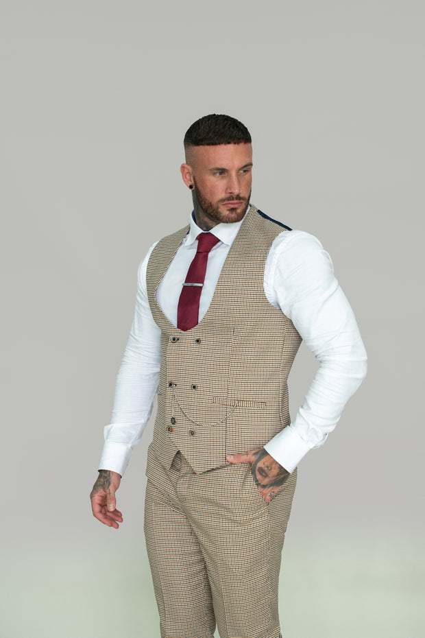 Elwood Houndstooth Double Breasted Waistcoat