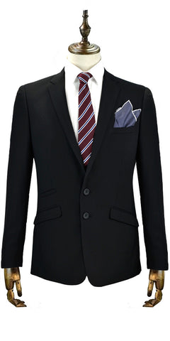 Oversize XL men's wedding suit in black.  Great tailored men's formal wear for special occasions and weddings.