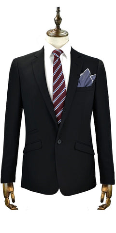 Cavani's Felix two-piece suit in black is a great wedding suit choice.  We also have matching boys suits in this style.