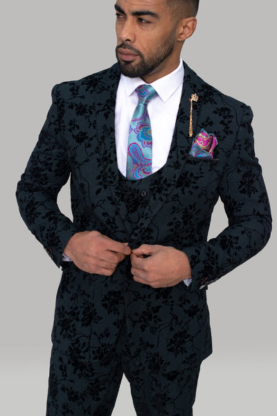 Georgi Floral Three Piece Suit