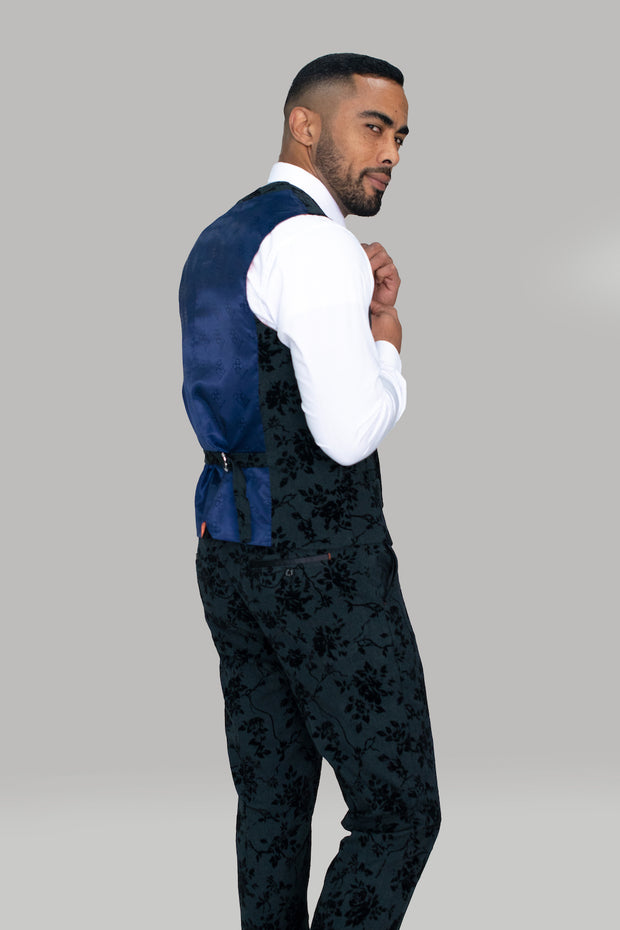 Georgi Floral Double Breasted Waistcoat