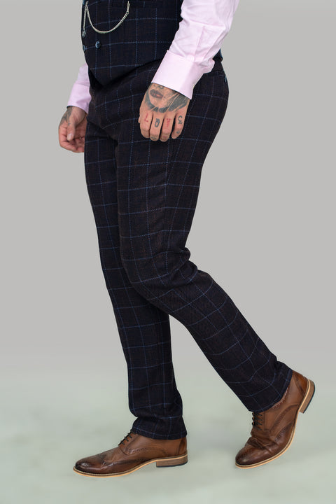 Kerber Check Skinny Three Piece Suit