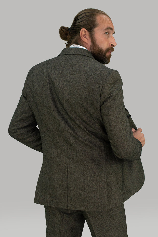 Martez Brown Tweed Slim Fit Blazer