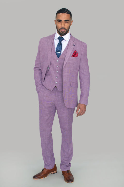 Miami Lilac Slim Fit Trousers