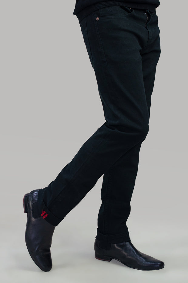 Milano Black Stretch Denim Jeans