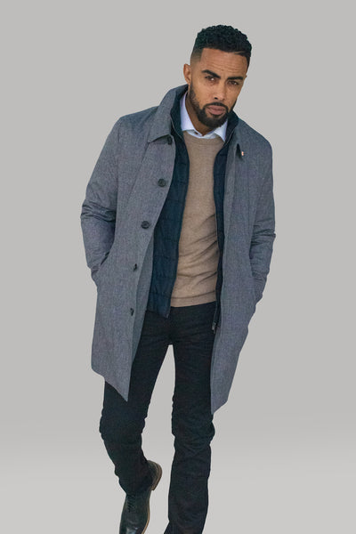 Brando Grey Mac Coat