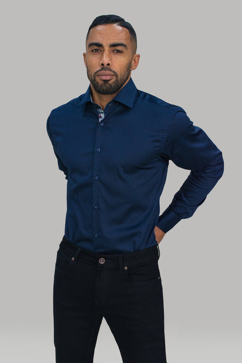 Rio Navy Premium Cotton Shirt