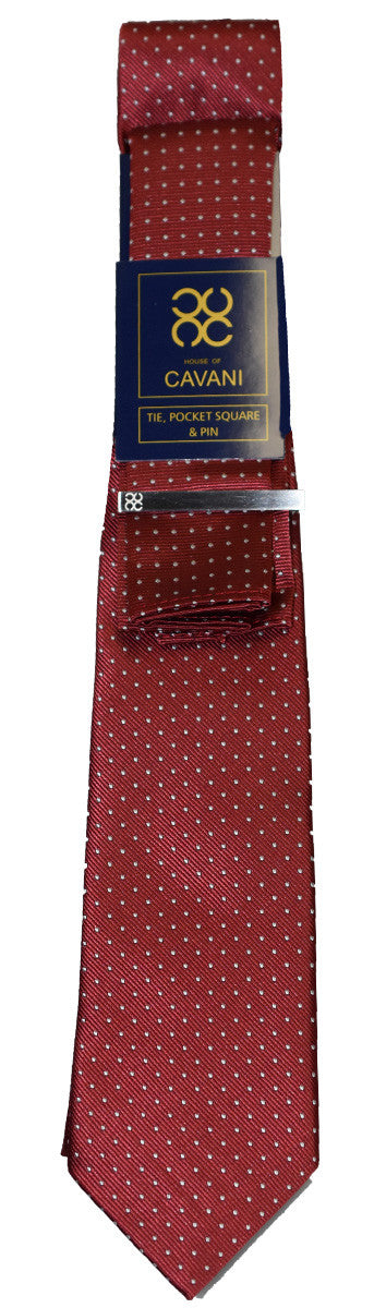 Red Dot Tie Set - Cavani