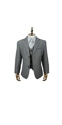 Boy's House of  Cavani Reegan 3-piece wedding suit.  Team with a white shirt and you're well on the way to having the most dapper boy at any event.