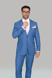 Blue Jay Suit With Skinny Trousers