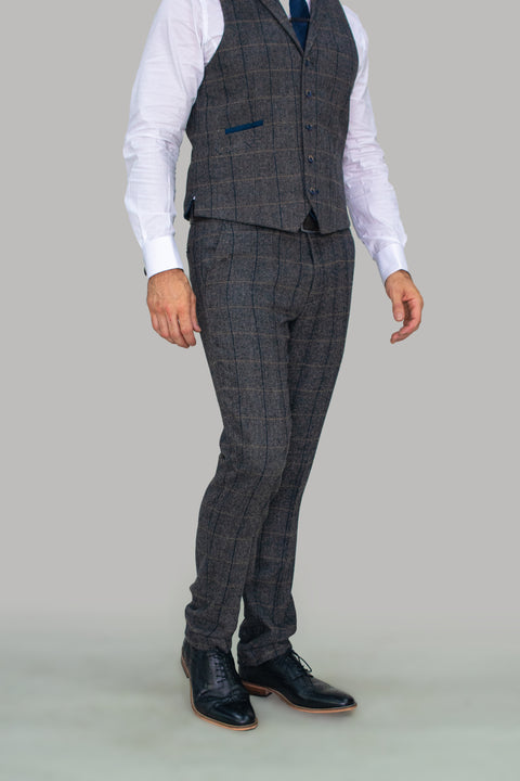 Albert Grey Tweed Extra Large Trousers