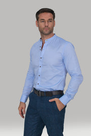 Spillo Blue Premium Cotton Shirt