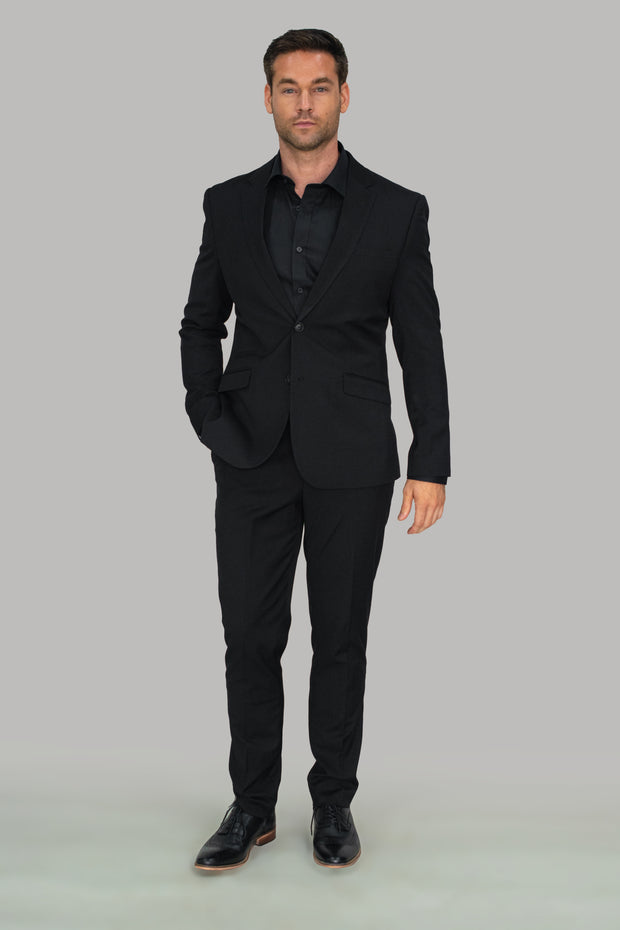Marco Black Suit Slim Fit Trousers