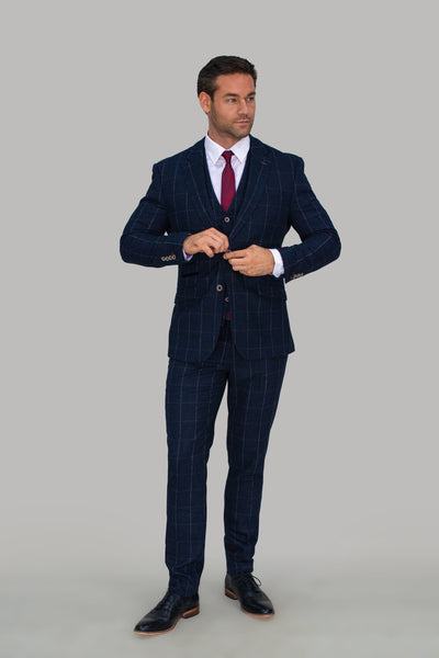 Angels Navy Check Blazer