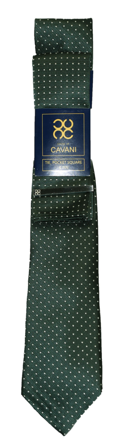 Green Dot Tie Set