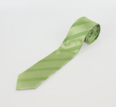 Lime Self Stripe Tie Set - Cavani