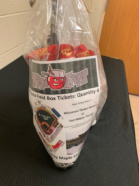 #165- Silent for Football: Family Fun Basket/ Tin Caps, Movie, Texas Roadhouse (339) - Tiger Apparel