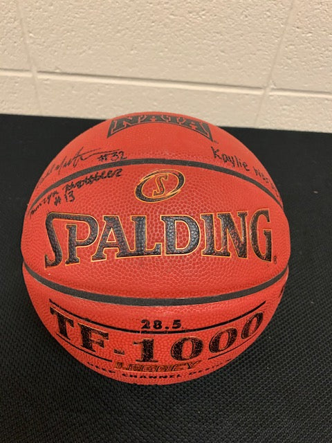 #132- Silent for MS Athletics: Autographed basketball from Grace College Women's BXB team (261) - Tiger Apparel