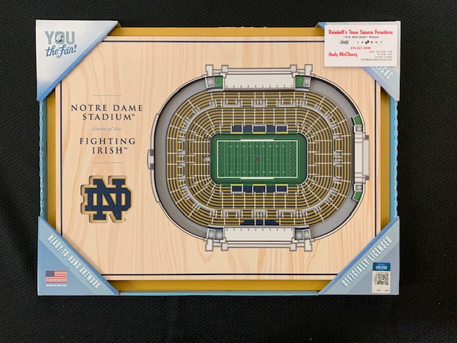 #220- Silent for Boys Basketball: Notre Dame Football Stadium View Picture (172) - Tiger Apparel