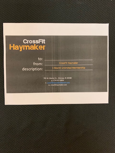 #134- Silent for Boys Soccer: One Month Unlimited Membership to Crossfit Haymaker ($135 Value) - Tiger Apparel