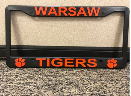 Warsaw License Plate Cover