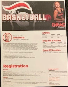 #213- Silent for Girls Basketball: Grace College Women's Basketball Overnight Camp (161) - Tiger Apparel