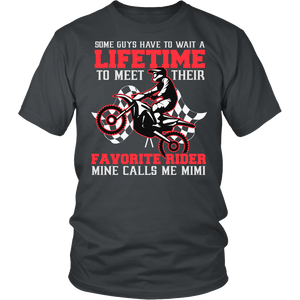"""Favorite Motocross Rider - Mine Calls Me Mimi"" T-Shirt"
