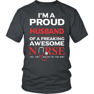Proud Husband of An Awesome Nurse T-Shirt