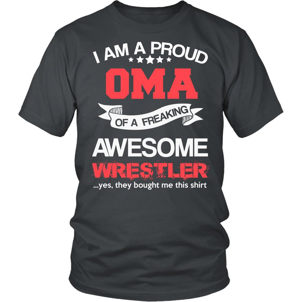 Proud Oma of An Awesome Wrestler T-Shirt