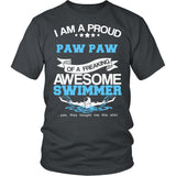 Proud Paw Paw of An Awesome Swimmer T-Shirt