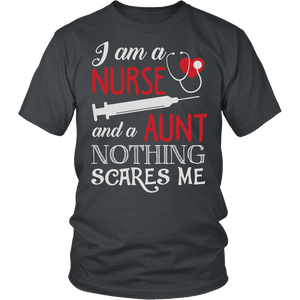 Nurse Aunt Nothing Scares Me T-Shirt