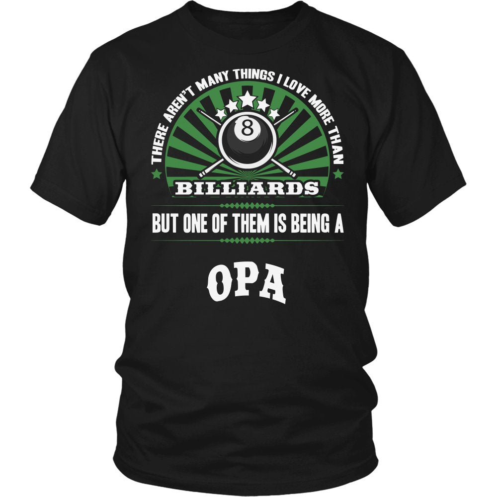 This Opa Loves Billiards T-Shirt