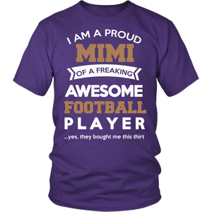 """Proud Mimi of An Awesome Football Player"" T-Shirt"