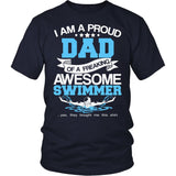 Proud Dad of An Awesome Swimmer T-Shirt