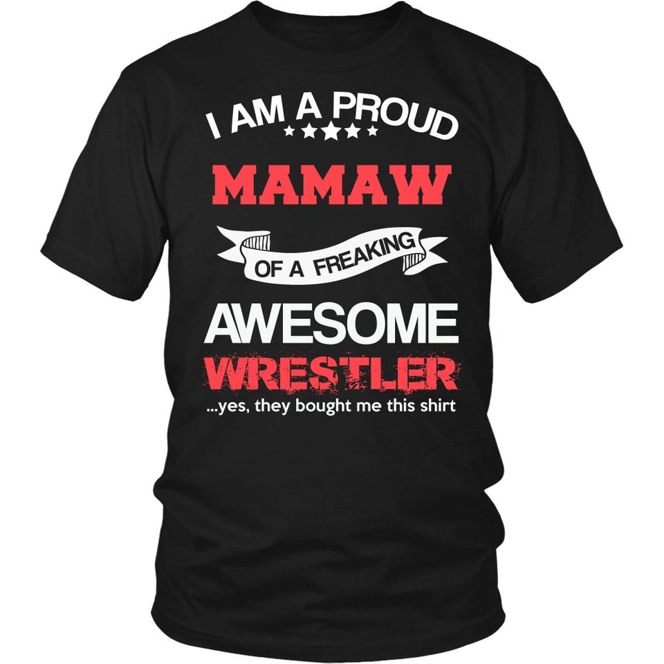 Proud Mamaw of An Awesome Wrestler T-Shirt
