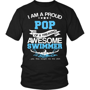 Proud Pop of An Awesome Swimmer T-Shirt