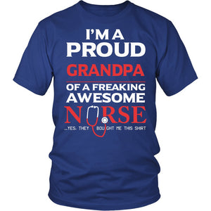 Proud Grandpa of An Awesome Nurse T-Shirt