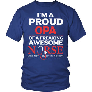 Proud Opa of An Awesome Nurse T-Shirt