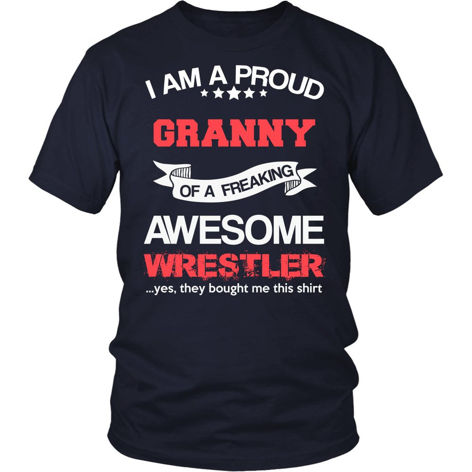 """Proud Granny of An Awesome Wrestler"" T-Shirt"