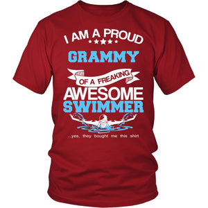 """Proud Grammy of An Awesome Swimmer"" T-Shirt"
